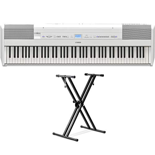 Big Save! Yamaha P-515 88-Key Portable Digital Piano (White) (with double braced stand)