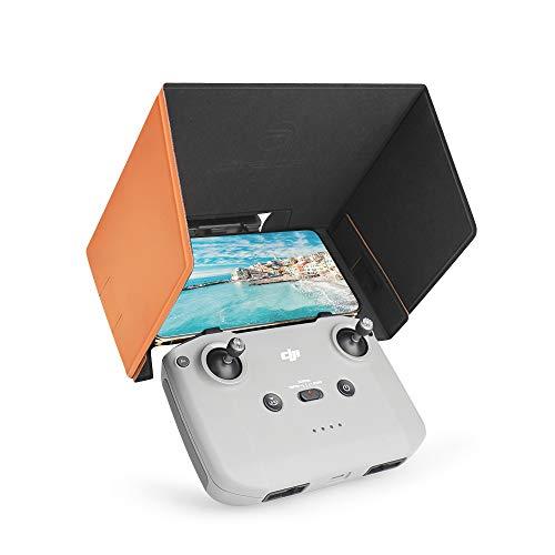 Motutech Sun Hood - Parasol de pantalla para DJI Mavic Mini 2 / Mavic Mini mando a distancia 18 cm x 9 cm Sun Hood magnético plegable (naranja)