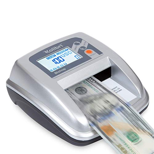 cheap Kolibri Bishop Counterfeit Currency Detector with 5 Advanced Features for Detecting Counterfeit: UV,…
