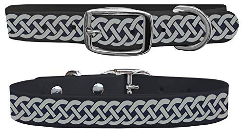 C4 Dog Collars Celtic Knot Pattern Dog Collar - Waterproof & Guaranteed for Life - for Boy & Girl Dogs Sizes Small, Medium, Large, and X-Large - Metal Buckle (Small)
