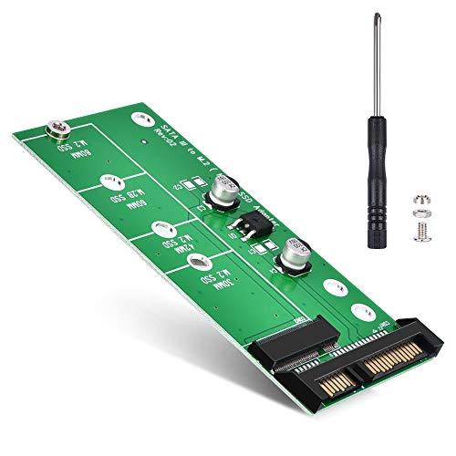 ELUTENG M.2 SATA Adapter 22-Pin(7+15) SATA III NGFF M.2 SATA-Based Key B/B + M für 2280 2260 2242 2230mm SSD 6Gbps M2 NGFF SATA Adapter for Laptop Desktop
