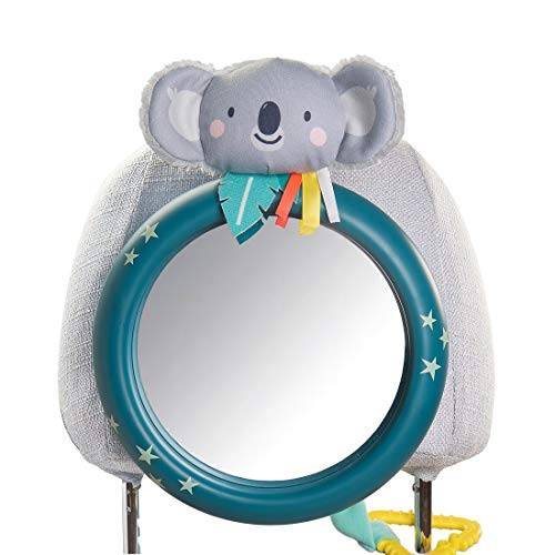 Taf Toys Koala Driver's Baby Mirror for Back Seat View of Rear Facing Baby in Backseat Enables Easier Drive and Easier Parenting, Eye to Eye Contact with Baby While Driving