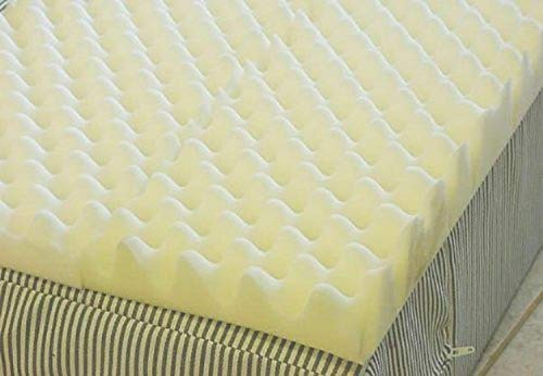 VacuuMParts 4 inch Foam Twin Bed Pad Mattress Egg Crate Overlay Topper...