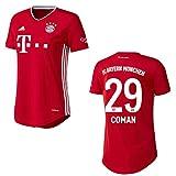 Bayern Trikot Home Frauen 2021, Spielerflock (zzgl. 10.00EUR):29 Coman, Größe:L