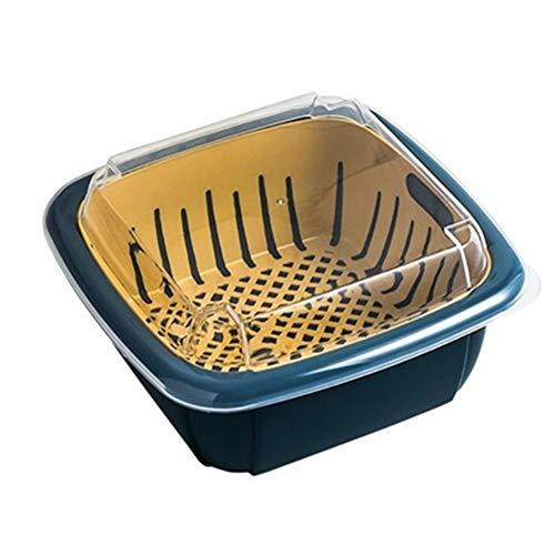 ZUOLUO Colino Colapasta Piccolo Colino Setaccio Riso Gadget da Cucina per La Cottura Filtro da Cucina Dark Blue,One Size