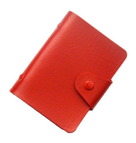 Brilliance Co Porta Carte Di Credito 24 Spazi (Rosso)