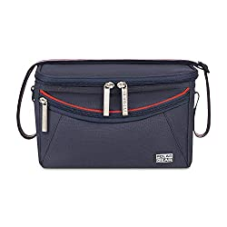 A COMFORTABLE BAG TO TAKE LUNCH ANYWHERE: Keep your food and drink refreshingly cool. This 16 litre capacity bag has a padded, adjustable Velcro handle for comfort and easy transport. The bag hasan external zippocket to keep cutlery, snacks or napk...