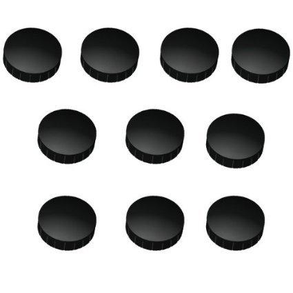 60 Magnete, Ø 24mm, Haftmagnete für Whiteboard, Kühlschrankmagnet, Magnettafel, Magnetwand, Magnet Rund schwarz