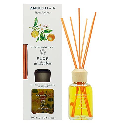 Ambientair Home Perfumes. Difusor de Varillas perfumadas Aroma Flor de Azahar. Ambientador...