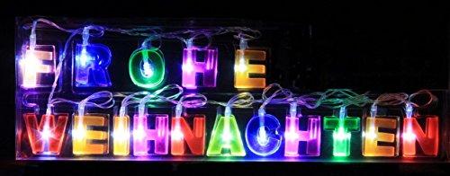 SSITG LED Guirlande lumineuse Joyeux Noël Décoration de Noël décoration de fenêtre Éclairage des fenêtres