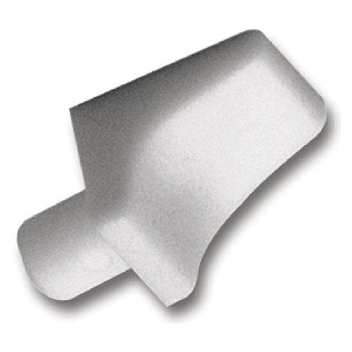 SECOTEC Bodenträger mit Winkel | Bohr ø 6 mm | Plattenträger zum Stecken | weiß | 20 Stück