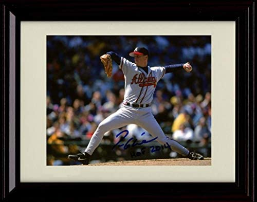 Framed Tom Glavine Pitching Autograph Replica Print product image