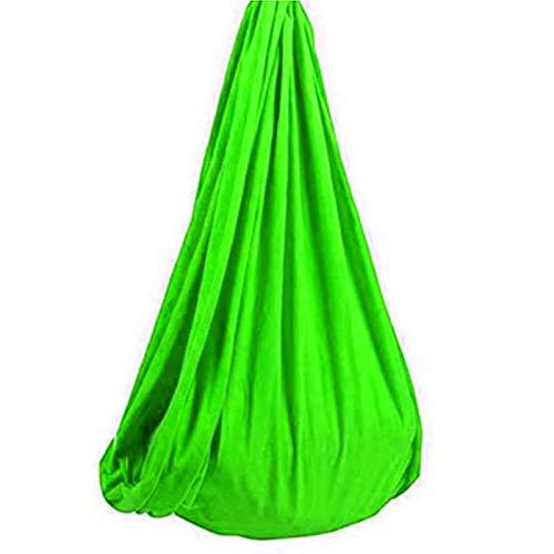 MTFZD Sensory Swing Hängematte Kinder Schaukel Indoor Hängematte für Kinder/Erwachsene Elastische Autismus ADHS und sensorische Integration Kuschelhängematten (Farbe: Grün, Größe: 100 x 280 cm)