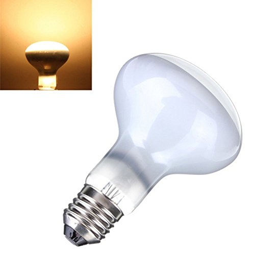 CTKcom 2-Pack 75W R85 UVA Bulb Pet Heating Lamp Day Light UVA Basking Heat Spot Lamp,110V UVA Reptile Heat Bulb for Turtle Aquarium Aquatic Reptile Lizard Heat Lighting E26/E27,White,2 Pcs