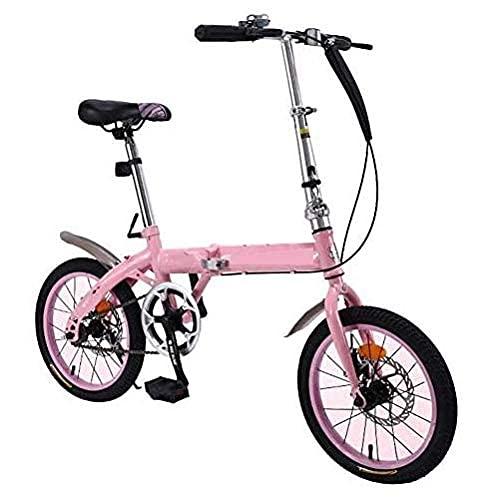 HUAQINEI Bicicleta Plegable para niños de 20 Pulgadas, Marco de Acero con Alto Contenido de Carbono, Frenos de Disco Doble, Velocidad Variable portátil Ultraligera, Estudiantes Varones Adultos, Azul