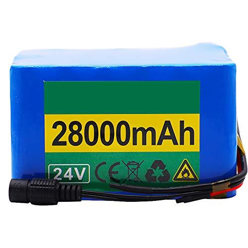 FREEDOH Li-Ion Pacco Batteria Pacco Batteria agli Ioni Litio per Bici Elettrica 24V 28AH Batteria per Bici Elettrica con Caricatore 1 Pz 25,2 V per Go Kart Scooter ECC,24v