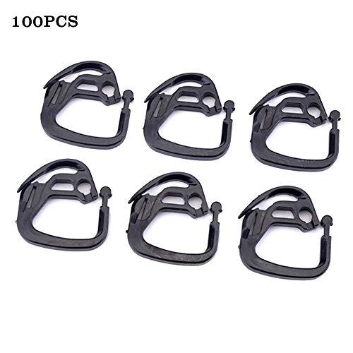 ruist-eu 100PCS Shade Net Hook Clips Holder para Accesorios de sombreado de invernaderos al Aire Libre de jardín
