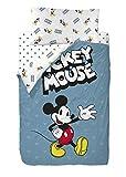 Disney Mickey 90's Blue Saco Nórdico de 2 Piezas para Cama de 90, Cotton, Multicolor