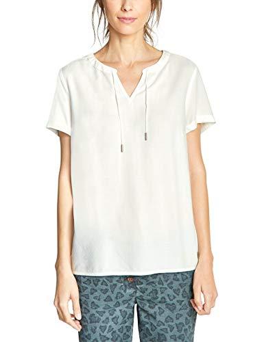 CECIL Damen 341575 Bluse Weiß (pure off white 10125) Large (Herstellergröße:L)