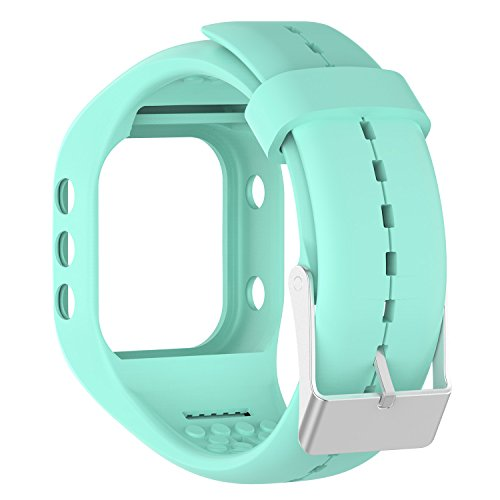 AWINNER Bands for Polar A300,Silicone Replacement Band for Polar A300 (Cyan)