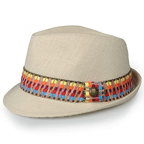 TOUTACOO, Sombrero, Panamá - Unisex - Chic y Tendencia .Copacabana (1-Multicolor)