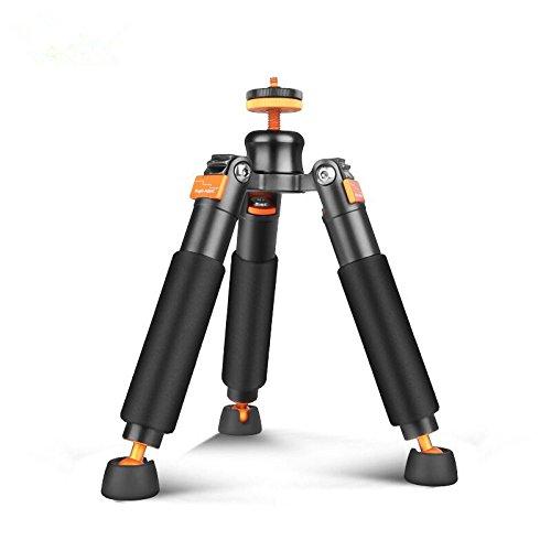 Bestshoot Desktop Mini Tripod Load 3KG Universal 3 Legs Monopod Base Stand Unipod Support Compatible with Canon 60D 60D 5D Nikon D90 Sony A58 A7RII DSLR Cameras Video Micro Shooting