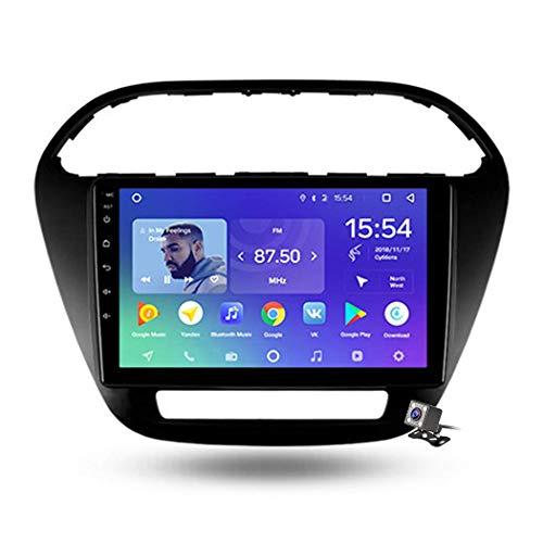 QBWZ Car Stereo Android 9.0 Radio para Tata Tiago 2016-2020 Navegación GPS Pantalla táctil de 9 Pulgadas Unidad Principal Reproductor Multimedia MP5 Video con 4G WiFi DSP Mirror Link Bluetooth