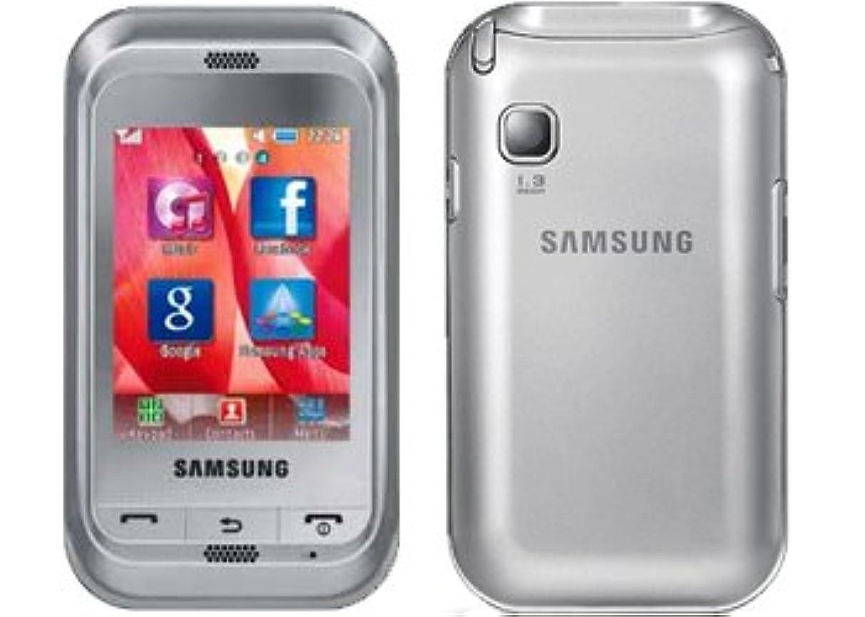 Samsung C3303 Champ Unlocked Quad-Band Touchscreen Phone with FM Radio, Stereo Bluetooth and microSD Slot - Unlocked Phone - International Version No Warranty - Silver