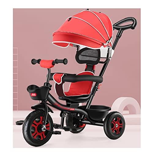 jiji Kinderwagen Kinderwagen, für Kinder Dreirad, unter 6 Jahre altes licht Fahrrad babyfahrrad Auto spaziergänger zusätzlich lagerung Infant Auto Buggy (Color : Star Shining Black)