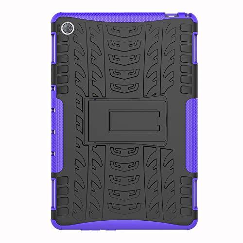 SHIEID Hülle für Huawei MediaPad M5 Lite (10 Inch)-Hülle Tough Hybrid Armor Hülle,Diese Handyhülle Anti-Wrestling Travel Essential Faltbare Halterung für Huawei MediaPad M5 Lite (10 Inch)(Purpur)