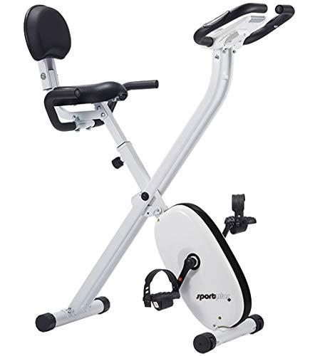 SportPlus Cyclette Bicicletta da Camera con Monitor della Frequenza Cardiaca
