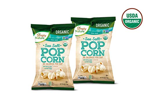 Check Out This Simply Nature USDA Organic Gluten-Free Whole Grain Sea Salt Popcorn - 6 oz. (2 Bags)