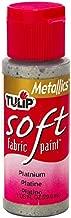 TULIP Soft Fabric Paint 1oz Metallic Platinum