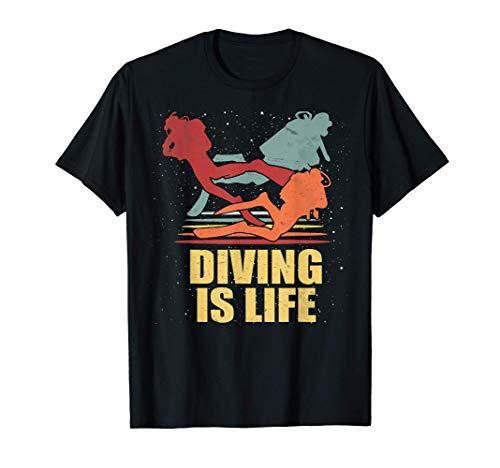 El buceo es la vida de los buceadores deportivos. Camiseta