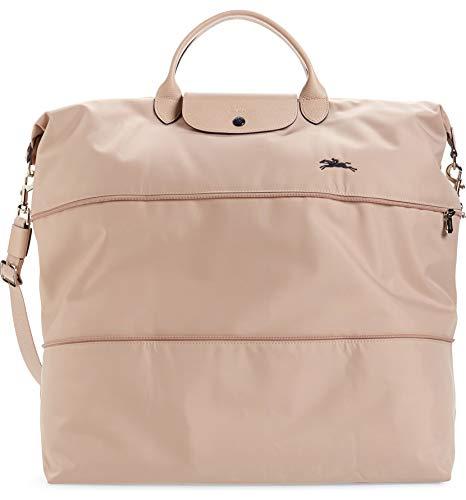 Longchamp Women's Le Pliage 21-Inch Expandable Nylon Travel Bag Handbag Aubepine Pink