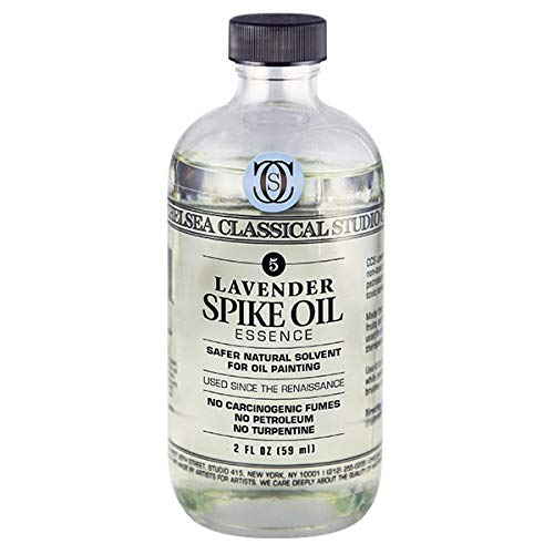 Chelsea Classical Studio Lavender Spike Oil Essence - Natural Solvent Non-Toxic Natural Processed Lavender Spike Oil Essence Solvent - [2 oz. Bottle]