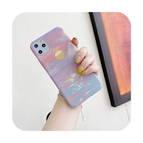 Moakado - Funda para iPhone 11 Pro Max XS Max XR X 6 6S 7 8 Plus Utral delgada y rígida de plástico para iPhone 12 Pro