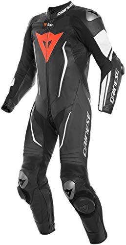 Dainese Misano 2 D-Air® Airbag 1-Teiler Perforierte Motorrad Lederkombi Schwarz/Weiß 50