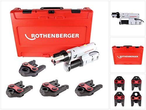 "Rothenberger elektrohydraulische Fitting - Pressmaschine ROMAX AC ECO Presskontur""TH\"" Set mit Pressbacken"