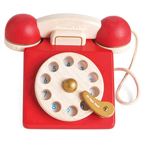Le Toy Van Vintage Wooden Toy Phone Role Play Toy