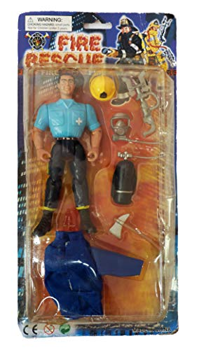 Fire Rescue Vintage 1980's Set No: 034/002 Action Figure & Accessories Set Shop Stock Room Find