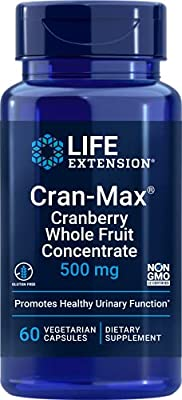 Life Extension Cran-Max Cranberry Whole Fruit Concentrate, 500mg, 60 vcaps