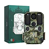 WiFi Trail Camera, COOAU 24MP 1296P Hunting Game Trail Cam with No Glow Night Vision Motion Activated IP66 Waterproof and 940nm IR LEDs for Outdoor Wildlife Monitoring and Hunting Game