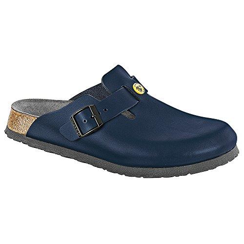 BIRKENSTOCK Original Boston ESD Leder Schmal, blue, 061388 42,0
