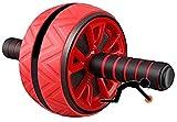 Rueda Abdominales Ejercicio Básico Multifuncional Equipo De Entrenamiento De Fuerza Body Fitness Rodillo De Rueda para Ejercicios Abdominales, Rojo mwsoz (Color : Red)