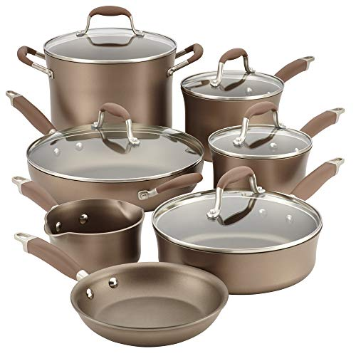 Anolon Advanced Umber Hard Anodized Nonstick Cookware Pots...