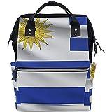 Yuanmeiju Shoulder Backpack Uruguay Flag Mommy Bag Helpful Children Rucksacks for Athletic Running 40cm(H) x18(W) cm