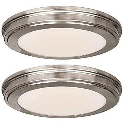 Hykolity 13 inch 20W Color Changing LED Ceiling Flush Mount, 1365LM, 180W Incandescent Equivalent,CRI90 LED Round Ceiling Light Fixture for Bathrooom Bedroom Dining Room Office