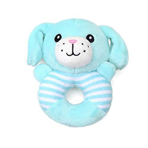 de l/átex con forma de pesas color azul Juguete mordedor para perros Nobleza largo 14,5 cm