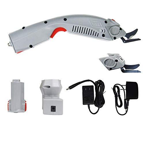 MXBAOHENG Cortador de Tela Industrial Inalámbrico Tijeras Eléctricas para Tela WBT-1 con 1 Batería y 2 Cuchilla (A y B)